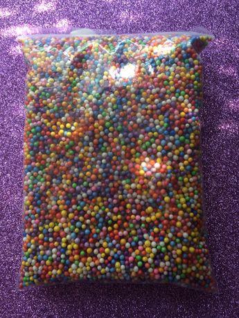 Добавки для слаймов посыпка для слаймов, цветные пенопластовые шарики