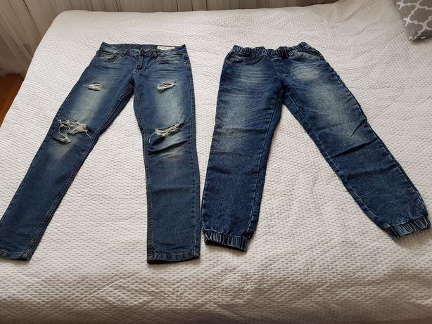 2 pary jeansy joggersy i boyfriend rozm. S