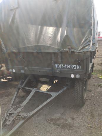 Przyczepa D46 ładowność 4.5 T sztywna - prosto z Wojska Polskiego
