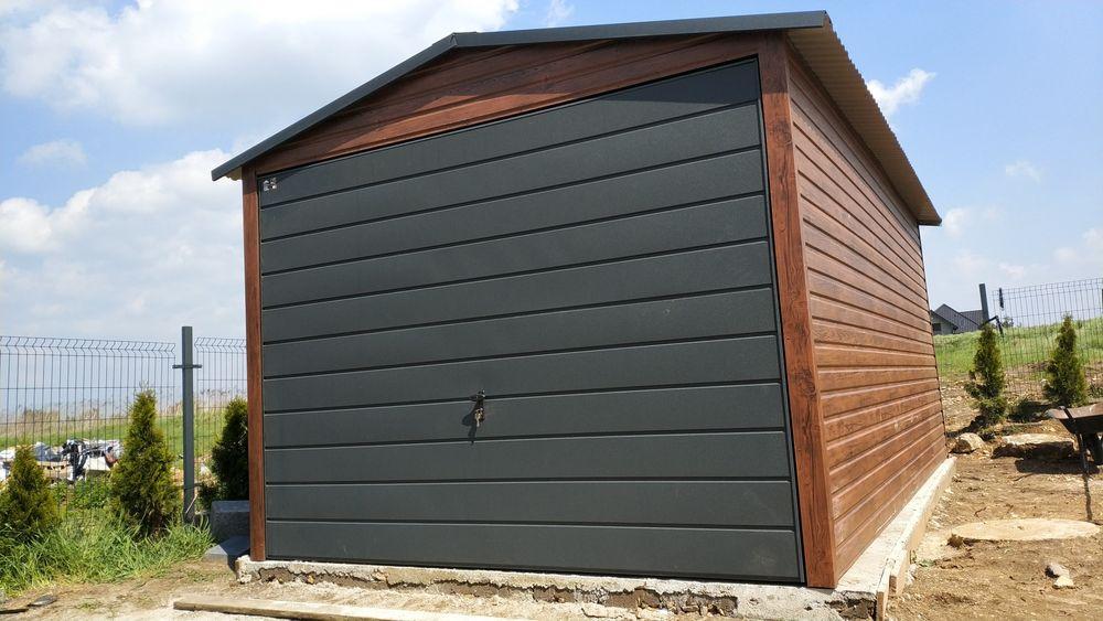 Garaż blaszany drewnopodobny 3x5 profil solidny 3,5x5 3,5x6 4x5 4x6 Sandomierz - image 1