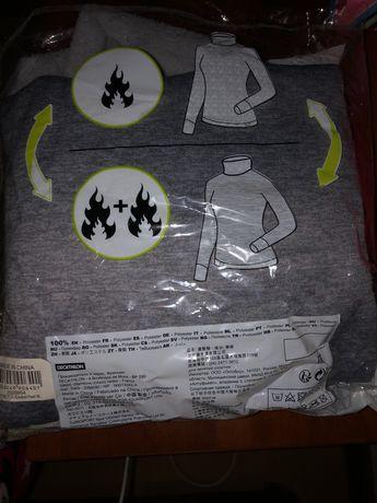 Camisola  cinzenta Warm Decatlhon