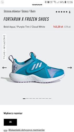 Buty Sportowe Adidasy Adidas Frozen Elsa Kraina Lodu rozm.32