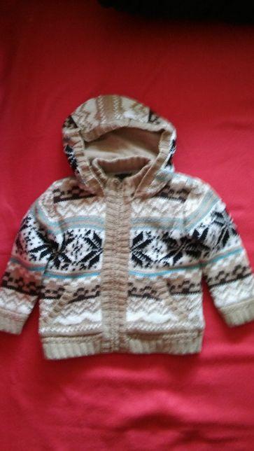 Ciepły sweter wzór norweski 98-104 cm