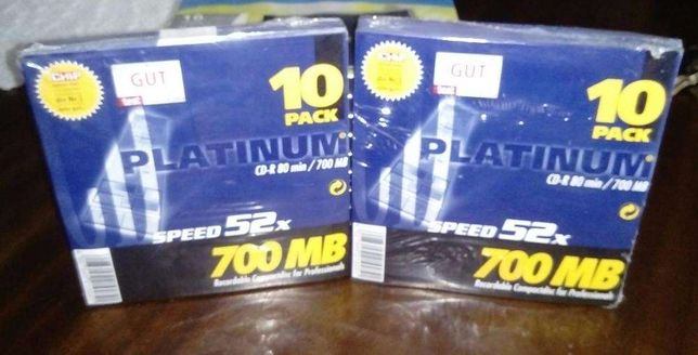 Platinum CD-R 700 MB, # 2 Pack = 20 Pcs