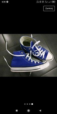 Converse wysokie niebieskie 37,5 damskie