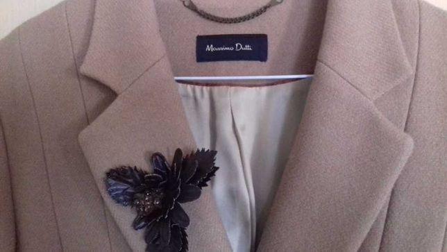 Massimo Dutti sobretudo 100% lã beige 40