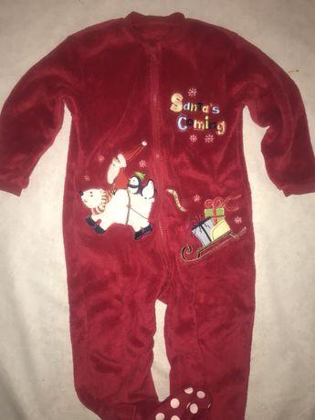 Piżama 3-4 l pajacyk 104 cm Miś piżamka sanie swieta