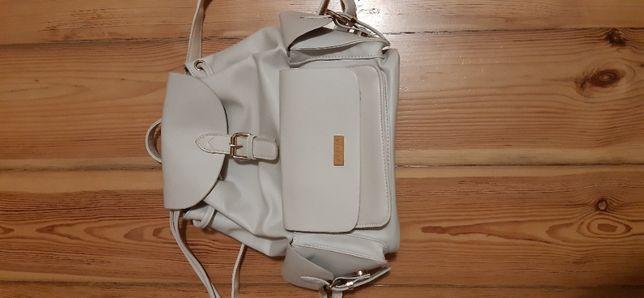 Biały miejski plecak damski