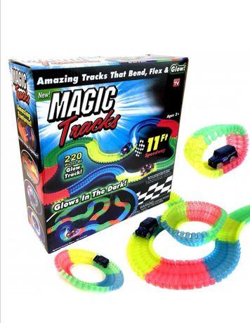Magic Tracks гнущий светящийся трек Гоночный трек игрушка, конструктор