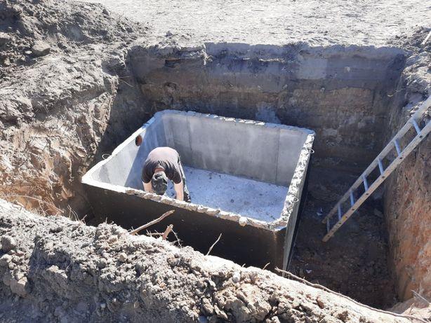 Szambo, szamba, zbiorniki betonowe Brójce