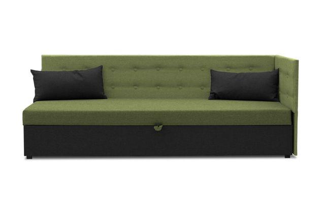 Tapczan, łóżko tapicerowane, pojemnik na pościel, wersalka PROMO