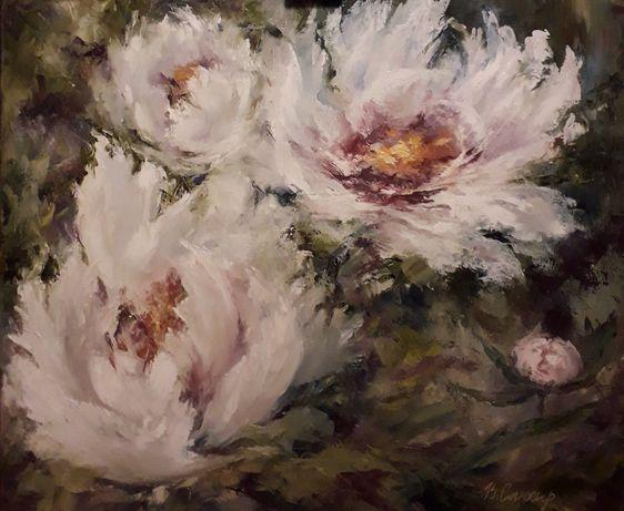 Картина. Цветы. Символ любви и богатства