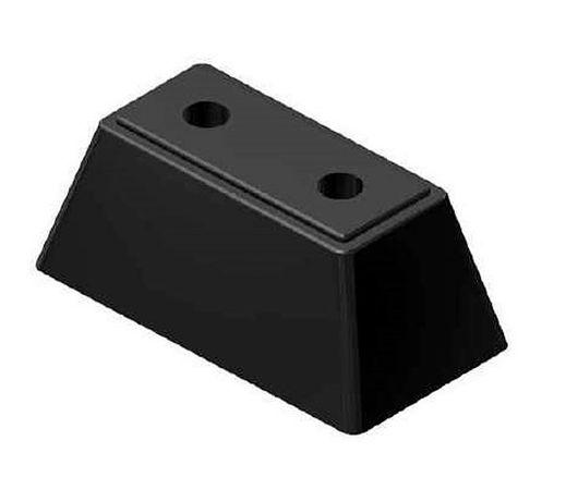 Odbój gumowy do przyczepy 17x9x7 cm - duży - 2 otwory