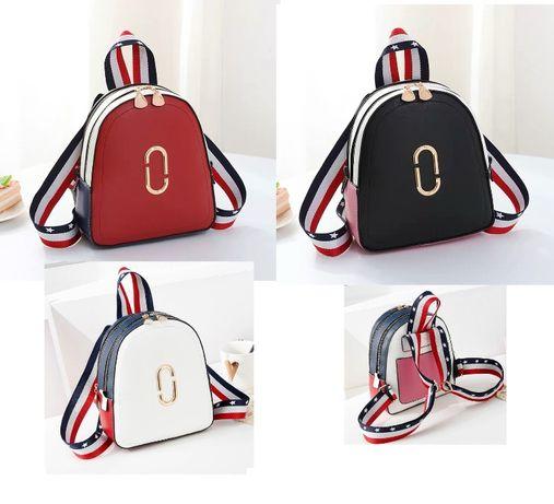 Женский стильный кожаный популярный городской рюкзак ранець сумка 2в1