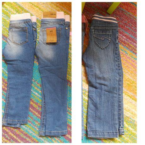 3 x jeansy jegginsy nowe i używane 98 i 104 cena za całość 15 zł