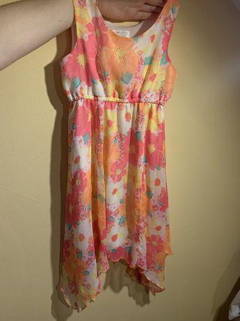 Платье 5-6лет летнее нарядное яркое