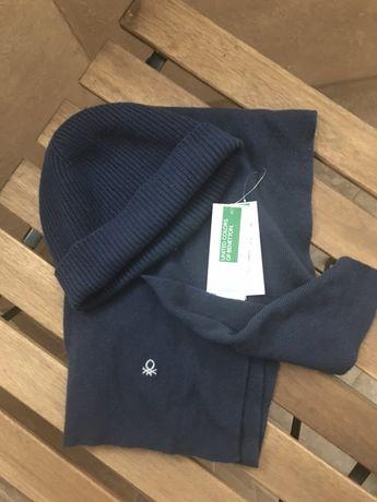 Benetton шапка и шарф л-2хл