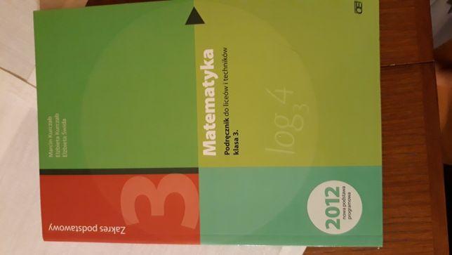 Matematyka. Podręcznik klasa 3. M. Kurczab