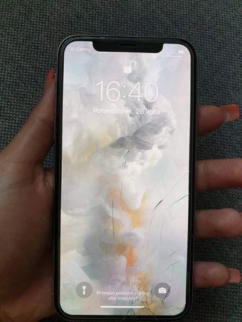 Iphone x zbita przednia szybka face id sprawne