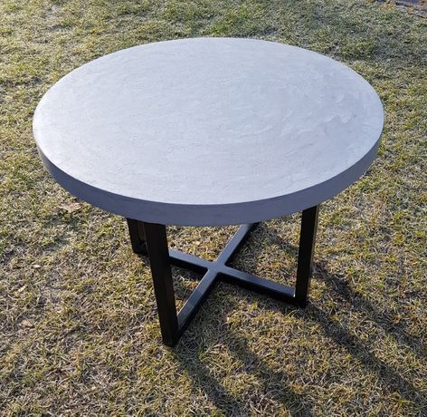 loftowy stolik ogrodowy/kawowy betonowy