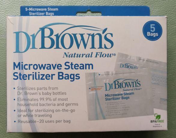 Пакеты Dr. Brown's для микроволновой паровой стерилизации 5 шт