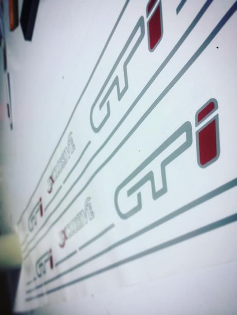 Autocolantes Citrôen AX GTi EXCLUSIVE - cores e medidas originais