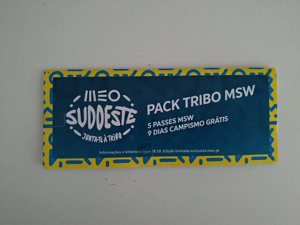 Bilhete MEO sudoeste - Pack Tribo