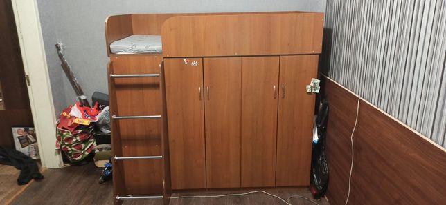 Кровать-чердак шкаф 160*90