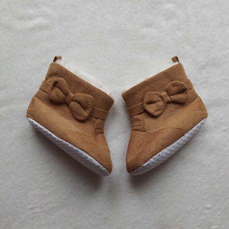 Ocieplane niechodki buciki brązowe 12,5 cm