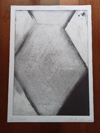 Gravura numerada e assinada José Pedro Croft