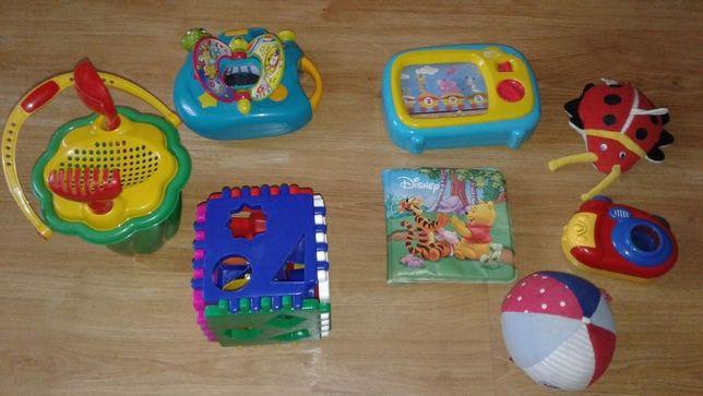 2 zestawy zabawek dla dziecka