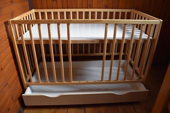 łóżeczko dziecięce sosnowe 120x60 SZUFLADA