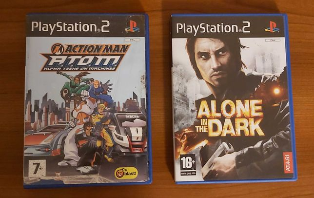 2 Jogos PS2 Alone In The Dark e Action Man