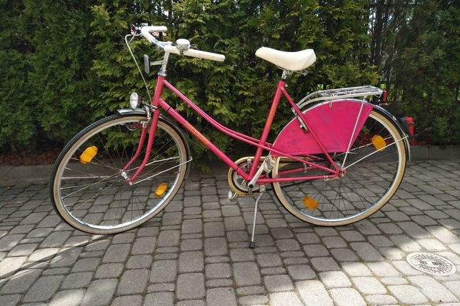 Rower damski TORNADO różowy holenderka made in Germany oldschool