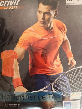 Koszulka pomarańczowa CRIVIT SPORTS