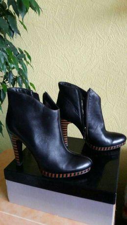 Ботинки женские, демисезонные кожаные