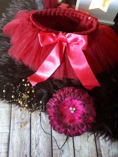 Zestaw świąteczny spódniczka tu-tu plus opaska ( sesja zdjęciowa )
