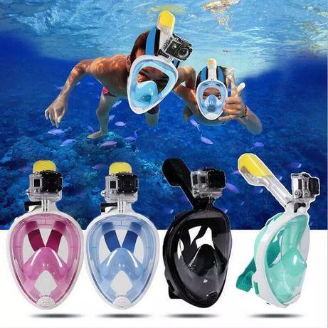 Маска для снорклинга (подводного плавания) на все лицо Subea Easybreat
