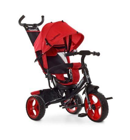 Триколісний велосипед коляска дитячий, батьківська ручка, дзвоник