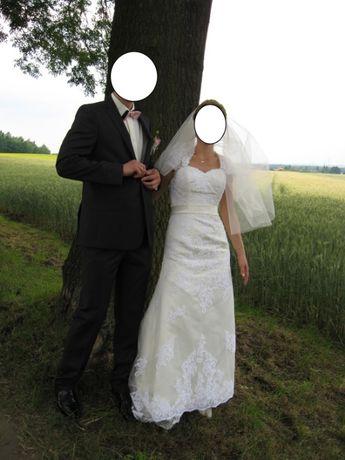 suknia ślubna kolor ecru