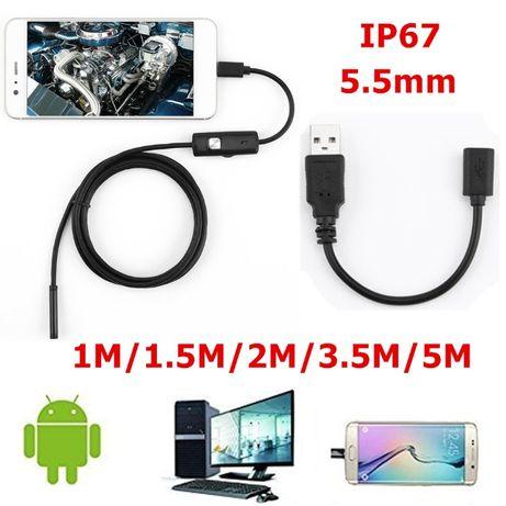 Дешевенький Ендоскоп для СТО 1,3MP 2м 5,5мм фото видео эндоскоп камера