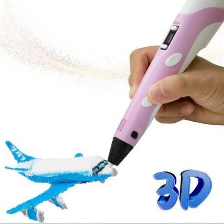 Caneta 3D - Cores azul e rosa