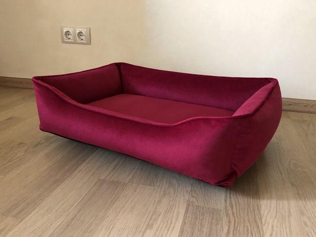Лежак для собак (70x50 см) малиновый