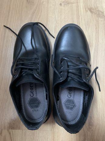 Продам туфли для мальчика, кожа, размер 33, кожа george , б/у