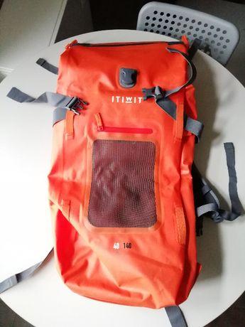 Plecak500 Na Standup paddle turystyczny 100+40L Szczelny Pomarańczowy