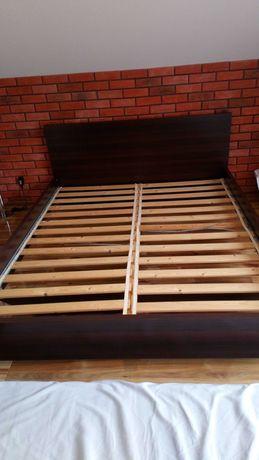 ŁÓŻKO SYPIALNIANE do sypialni 160x200cm VENGE brązowe