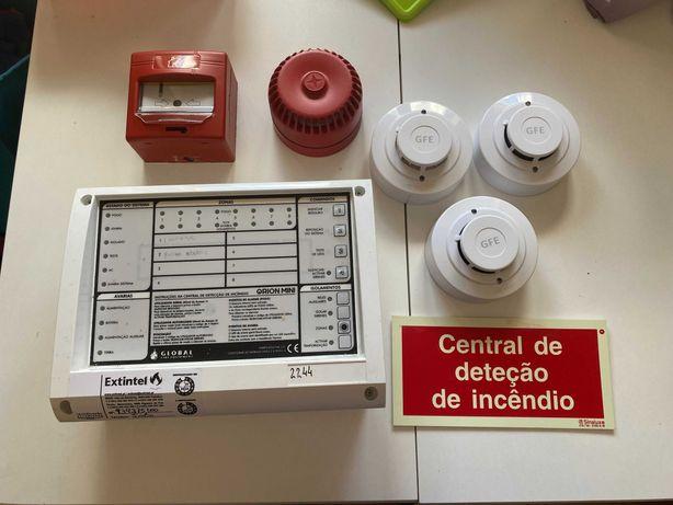 Sistema deteção automática de incêndio - 3 zonas