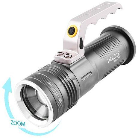 Мощный прожектор, аккумуляторный фонарь Police S911-Q5 Zoom