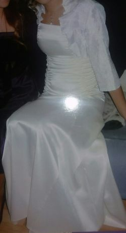 Sukienka ślubna i bolerko ,ecru