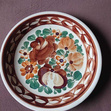 Talerz ręcznie malowany Włocławek